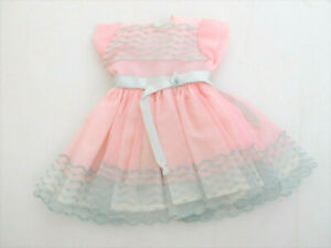 """Vintage 1950's Mint Cond. Ideal Tagged Dress for 12"""" Shirley Temple Vinyl Doll"""