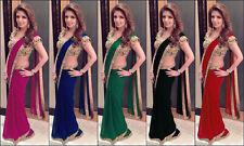 Saree Sari Indian Bridal Bollywood Ethnic Pakistani Designer Wear Traditional AX