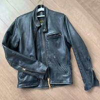 Vanson Single Riders Jacket Blouson Outer Type A AR2 Men's 36 Leather Vintage