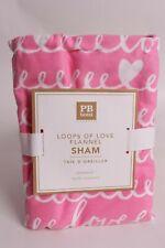 Pottery Barn PB Teen Loops of Love flannel standard sham (for duvet) bright pink