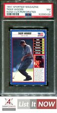 New listing 1997 SPORTED! MAGAZINE-HAND CUT PERFORATED TIGER WOODS POP 2 PSA 7 A3187782-428