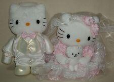 "Hello Kitty & Dear Daniel Wedding Bridal 7.9"" 20cm Plush Dolls Sanrio 2002 Rare"