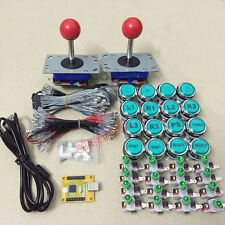 Arcade game PC PS3 2 in 1 USB encoder & 2 joystickS & 16 LED icon push buttons
