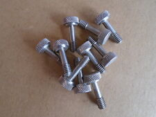 "Stainless Steel Knurled Thumb Screw   1/4""- 20 Thread  Lot of 10 1-1/8 OAL"
