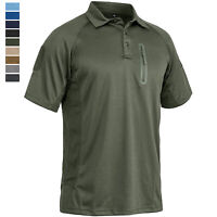Men's Tactical Polo Shirt Short Sleeve Military Tactical Army Combat Team Shirts