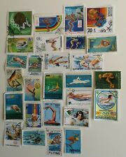100 Different Swimming Stamps Collection