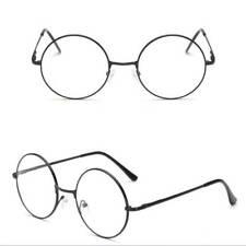 Vintage Style Clear Lens Round Glasses Gold Metal Frame Unisex Women Eyeglasses