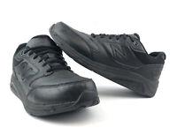 New Balance 928v2 Black Leather Walking Shoes MW928BK2  Mens Size 9.5 Wide 2E
