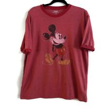 Men's Large Red Micky Mouse Disney Tshirt Shirt Short Sleeve Vintage Style