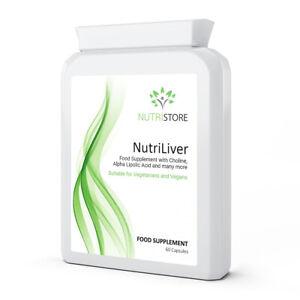 NutriLiver for Liver Health with Choline, Alpha Lipolic Acid 60 Capsules