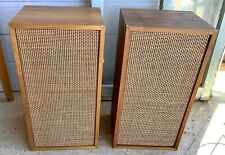 Vtg Heathkit AS-16 Speakers  cabinets Realistic Woofers Original Tweeters