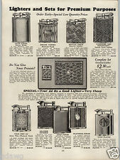 1930 PAPER AD Ronson Automatic Clark Lighter Sterling Silver Alligator Leather