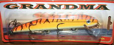 "6"" Grandma Lure Classic Crankbait Musky Pike Orange Tiger G6-24"