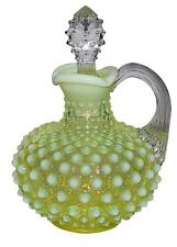 Fenton Hobnail Topaz Opalescent RARELY FOUND #3863 Cruet and Stopper
