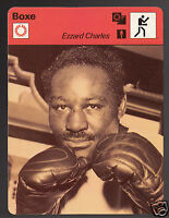 EZZARD CHARLES Boxing Boxer 1978 FRANCE SPORTSCASTER CARD 42-18B
