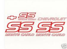 87-88 MONTE CARLO SS DECAL KIT