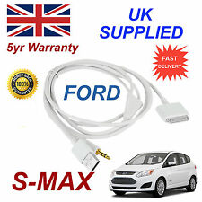 FORD SMAX 1529487 für Apple 3GS 4 4S iPhone iPod USB & AUX Audio Kabel weiß