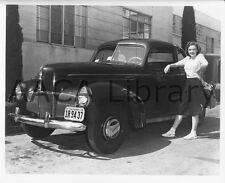 1940 Studebaker Champion Coupe, w/ Judy Garland, Factory Photo (Ref. #91170)