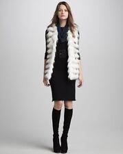 100% Authentic Alice + Olivia Bev Fur Vest top size M 6-8