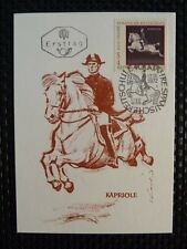 AUSTRIA MK 1972 PFERDE HORSE MAXIMUMKARTE CARTE MAXIMUM CARD MC CM a7436
