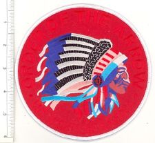 """OA Jacket Patch 6"""" Round Red Felt Background Ghost Text Order of the Arrow Flap"""