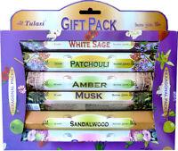 6 boîtes d'encens Tulasi pack découverte - 6 paquets de 20 bâtonnets