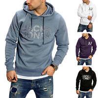 Jack & Jones Herren Hoodie mit Print Kapuzenpullover Sweater Sweatshirt Pullover