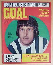 Revista de fútbol de metas - 1.5.71 - Edición 143-Tony Marrón - 1971 FA Cup Vista previa