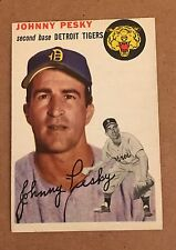 1954 Topps #63 Johnny Pesky Detroit Tigers RED SOX EX-MT FREE Shipping