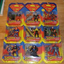 1995 Kenner DC Comics SUPERMAN Man of Steel Action Figures MOC Lot Superboy Lex