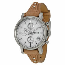 Fossil Original Boyfriend White Dial Chronograph Ladies Watch ES3625