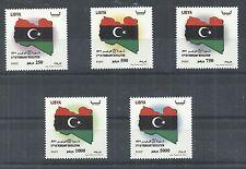 2011- Libya- Libye- 17th February revolution- 1st issue- Complete set (5v) MNH**