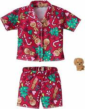 BARBIE CHRISTMAS FASHION PACK GINGERBREAD COOKIES PJ' S AND PUPPY BY MATTEL