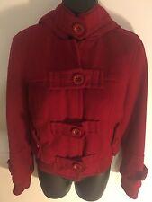 Sybilla Women's Size 8 Medium Zippered & Hooded MId Waist Jacket