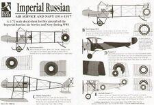 Blue Rider 1/72 IMPERIALE RUSSO Air Service e Blu Scuro 1914-17 # 244