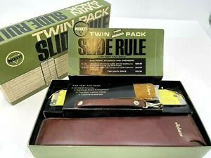 RARE Pickett Slide Rule TWIN PACK N16/N600 ES New Old Stock! For Desk and Vest!
