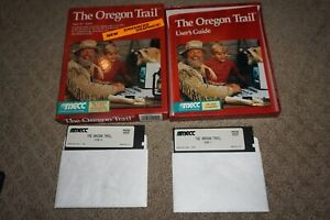 Oregon Trail (PC IBM XT) Complete in Box w/ Guide GREAT Shape