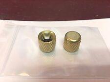 "1/4"" Female Flare A/C Brass Cap w/Gasket Set of 2"