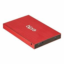 Bipra 100GB 2.5 inch USB 2.0 FAT32 Portable Slim External Hard Drive - Red
