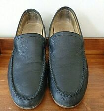FRYE Lewis Venetian black leather loafers