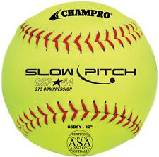 "Champro Gsp44 Slow Pitch 12"" High Visibility Balls (4 Pack)"