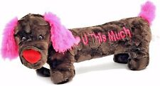 """I Love You This Much"" Brown Dachshund Dog Plush Stuffed Animal 20"" Long & Soft"
