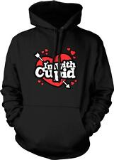 I'm With Cupid Arrow Hearts Valentine's Day Love Single Flirty Hoodie Pullover