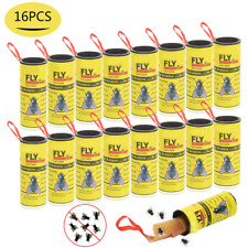 New listing Us Insect Bug Fly Hanging Glue Catcher Trap Ribbon Tape Strip Sticky Papers