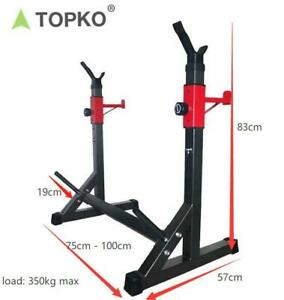 TOPKO Folding Barbell Squat Lifting Rack 350KG max load Gym Station Home Fitness