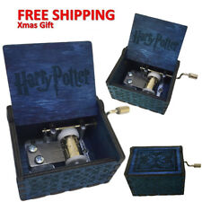 Harry Potter Engraved Wooden Hand-cranked Music Box Theme Collectible Toys Gift