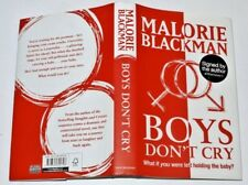 * Signed Copy * Malorie Blackman Boys Don't Cry 1st Ed 2010