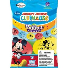 MICKEY MOUSE PARTY SUPPLIES BANNER BALLOONS 10 x QUALATEX QUICKLINK BALLOON