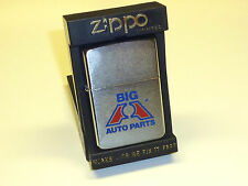 "VINTAGE ZIPPO LIGHTER ""Big a autoparts"" - ADVERTISING-unused-W/BOX - 1986"