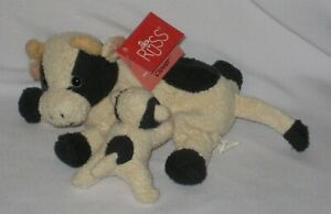 Russ Berrie Luv Pets Clover the Cow with Calf #21915 with Tags - Pre-Owned